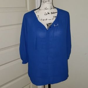 BcgbMaxazria  royal blue blouse